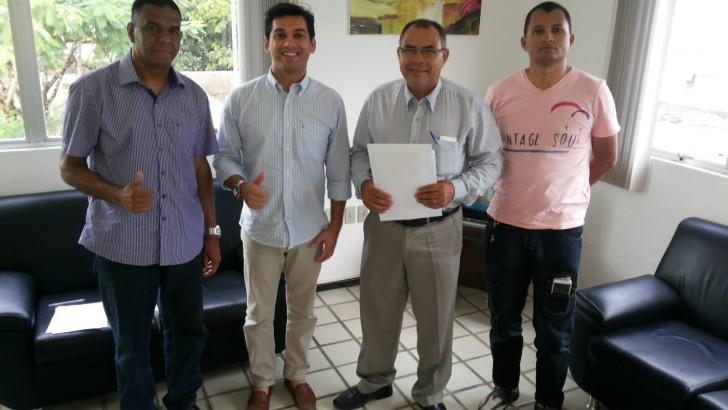 Representantes do Sindguarda-AL participam de audiência com prefeito de São José da Laje
