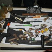Guarda Municipal apreende armas e drogas no Mercado da Produção