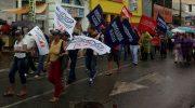 Sindguarda participa de ato contra reajuste salarial de 0%