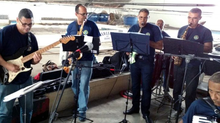 Apresentação da Banda da GM marcou comemorações do Dia dos Pais no Mercado de Jaraguá
