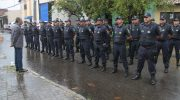 Guardas Municipais se apresentam durante cerimônia na Semscs