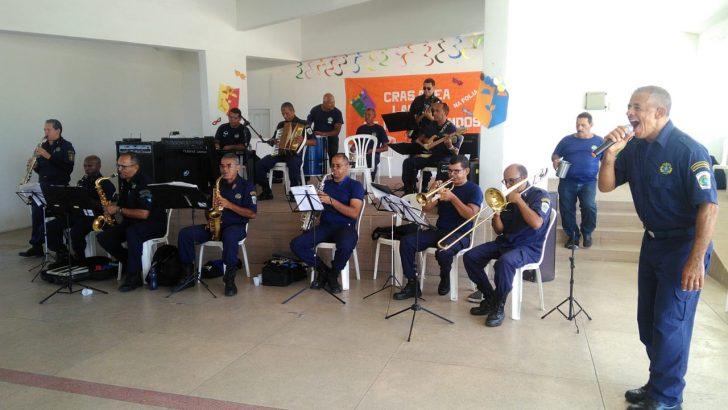 Banda da Guarda Municipal de Maceió agita o carnaval do CRAS
