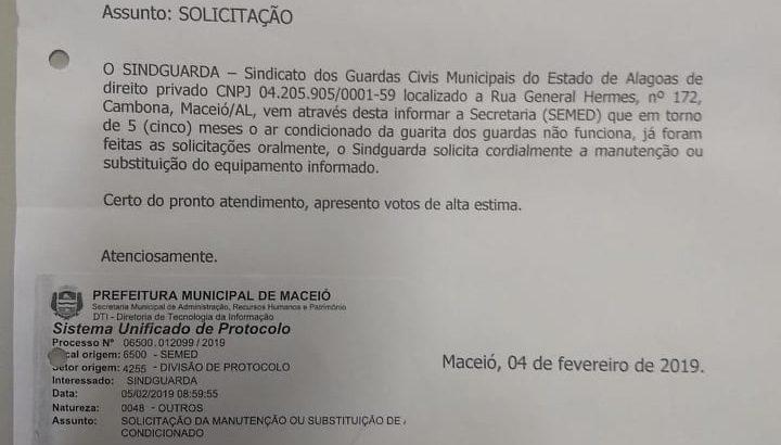 Caso resolvido: Solicitação do Sindguarda é atendida pela SEMED