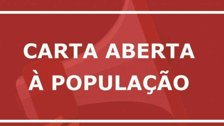 Reposição salarial: Movimento unificado divulga carta aberta solicitando apoio da população na luta