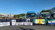 Sindguarda na luta: caravana chega a Brasília para participar de ato em defesa da Aposentadoria Policial