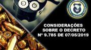Decreto contempla algumas alterações referente ao porte de arma de fogo para Guardas Municipais