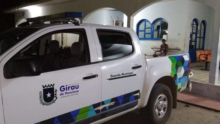 Suspeito de agredir esposa é preso pela Guarda Municipal de Girau do Ponciano