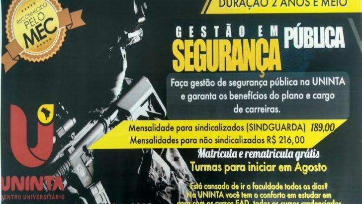 SINDGUARDA-AL firma parceria com Centro Universitário Uninta