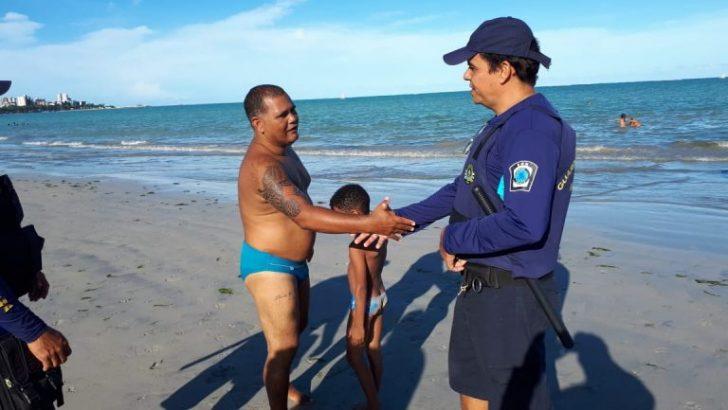 Guarda Municipal ajuda pais a encontrarem filhos perdidos na orla