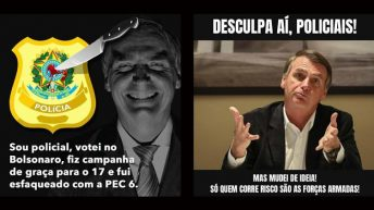 Previdência ameaça apoio das polícias Civil e Federal a Bolsonaro
