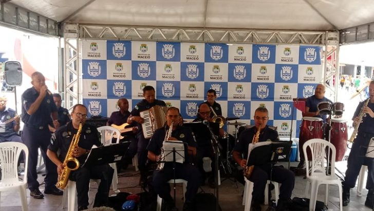 Sindguarda-AL prestigia apresentação da Banda da GMM em comemoração ao Dia da Guarda Municipal