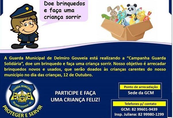 Campanha 'Guarda Solidária': GM de Delmiro Gouveia arrecada brinquedos para doação