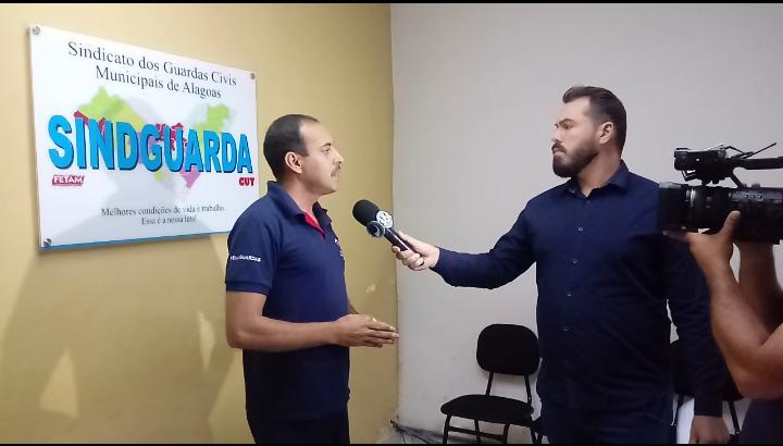 Sindguarda-AL concede entrevista às TVs Ponta Verde e Pajuçara para esclarecer casos de irregularidades das GM's de Alagoas
