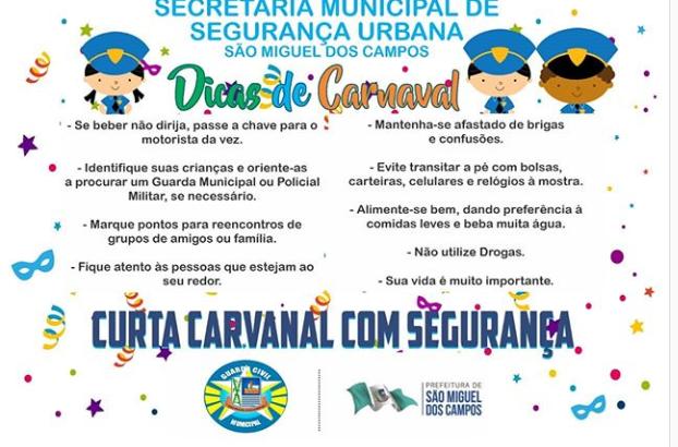 GCM de São Miguel dos Campos orienta população a curtir o carnaval com segurança