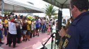 Banda da GMM anima foliões no 1º Praia Acessível de 2020