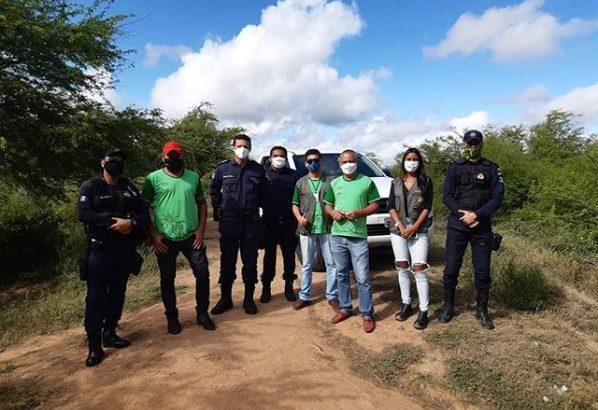 Guarda Municipal de Delmiro Gouveia dá apoio durante fiscalização em açude do DNOCS