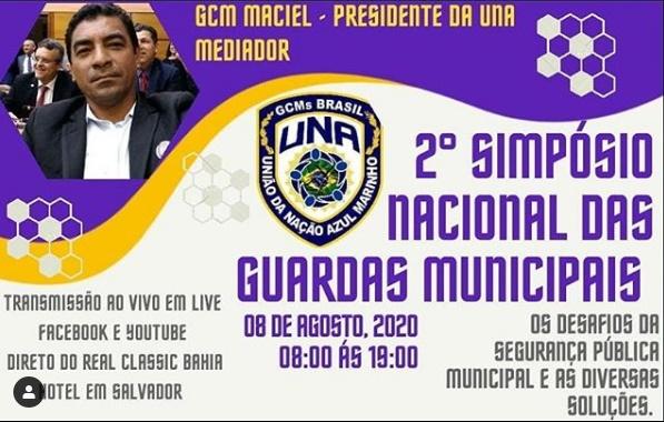UNA transmitirá Live do 2º Simpósio Nacional das Guardas Municipais