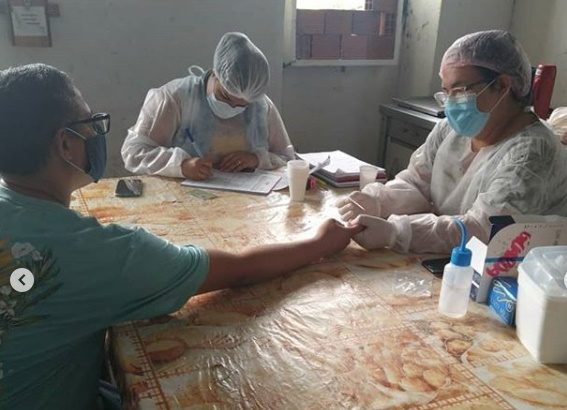 Guardas Municipais do Pilar realizam testes para Covid-19