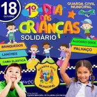 GCM de Palmeira dos Índios promove 1º Dia das Crianças Solidário