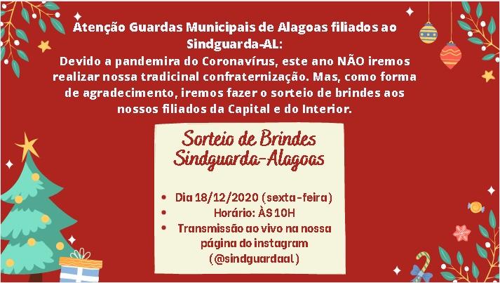 COMUNICADO – SORTEIO DE BRINDES