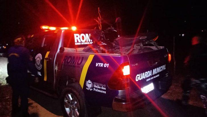 Moto abandonada é localizada pela Guarda Municipal de União dos Palmares