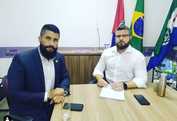 Secretário da Semscs se reúne com delegado Fábio Costa, para discutir sobre melhorias à GMM