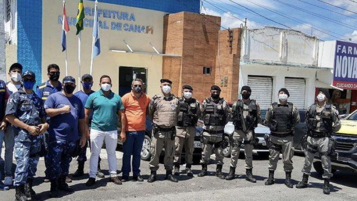 Guarda Municipal participa de ação de orientação contra a COVID-19 em Canapi