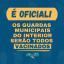 É oficial: Guardas municipais do interior serão vacinados, informa Cosems