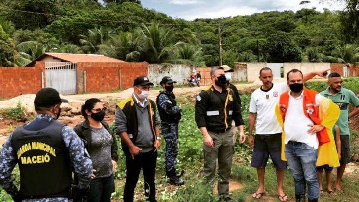 Guardas Municipais trabalham no enfrentamento à crise causada pelas chuvas em Maceió