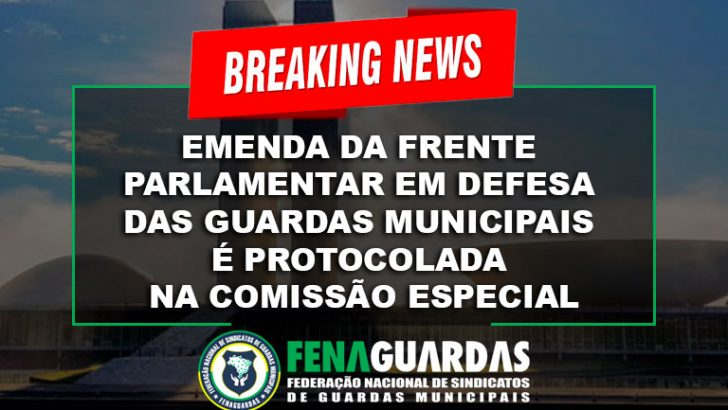 Emenda da Frente Parlamentar em defesa dos guardas municipais é protocolada na Comissão Especial